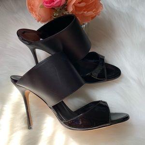 Manolo Blahnik black heels, size 36 1/2
